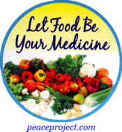 Let Food Be Your Medicine - Button
