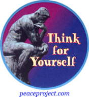 B1029 - Think For Yourself - Button