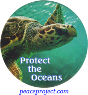 B1078 - Protect The Oceans - Button