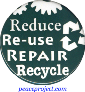 B1153 - Reduce, Reuse, Repair, Recycle - Button