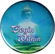 B1206 - Begin Within (with Buddha image) - Button