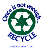 B176 - Once Is Not Enough Recycle - Button