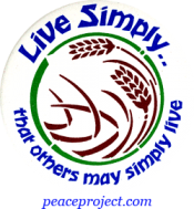 Live Simply That Others May Simply Live - Button