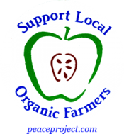 B255 - Support Local Organic Farmers - Button