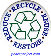 B265 - Recycle Reuse Restore Reduce - Button