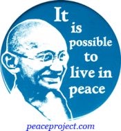 B272 - It Is Possible To Live In Peace - Gandhi - Button