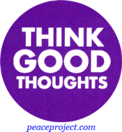 B297 - Think Good Thoughts - Button
