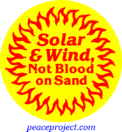 B313 - Solar And Wind Not Blood On Sand - Button