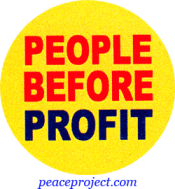 B353 - People Before Profit - Button