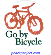 B509 - Go By Bicycle - Button