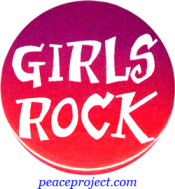B541 - Girls Rock - Button