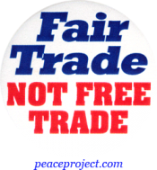 B706 - Fair Trade Not Free Trade - Button
