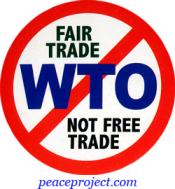 B708 - No WTO - Fair Trade Not Free Trade - Button
