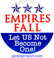 B709 - Empires Fall - Let US Not Become One - Button