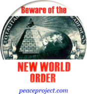 B718 - Beware Of New World Order - Button