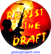 Resist The Draft - Button