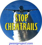 Stop Chemtrails - Button