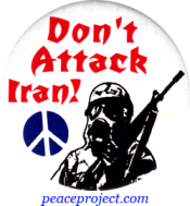 B835 - Don't Attack Iran - Button