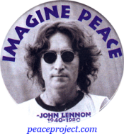 B867 - Imagine Peace - John Lennon - Button