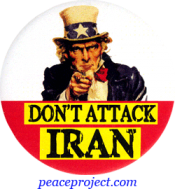 Don't Attack Iran - Button