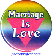 Marriage Is Love - Button