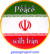 Peace With Iran - Button