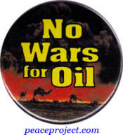 No Wars for Oil - Button