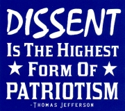 Dissent Is the Highest Form of Patriotism - Thomas Jefferson - Mini-Sticker