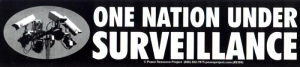 S384 - One Nation Under Surveillance - Bumper Sticker