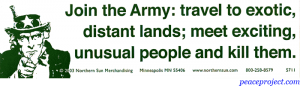 S070 - Join The Army; Travel to Exotic Lands; Meet... - Full-Size Sticker