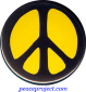 B0234Y - Peace Sign - Black over Yellow - Button