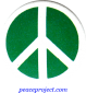B245 - Green Peace Sign - Button
