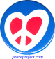 B619 - Heart Peace Sign - Button