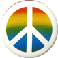 MG047 - Peace Sign over Rainbow - Magnet