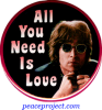 B1071 - All You Need Is Love - John Lennon - Button