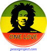 One Love - Bob Marley - Button