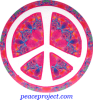 Peace Sign - Over Mandala - Button