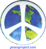 Peace Sign - Over Earth - Button