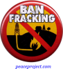 Ban Fracking - Button