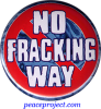 No Fracking Way - Button