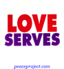 B421 - Love Serves - Button