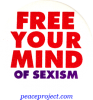 B424 - Free Your Mind Of Sexism - Button