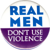 MG0493 - Real Men Don't Use Violence - Magnet