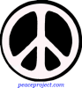 B618 - Peace Sign - 60's Style Black And White - Button