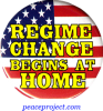B623 - Regime Change Begins At Home - Button