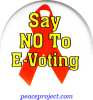 Say No To E-Voting - Button