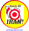 Hands Off Iran - Button