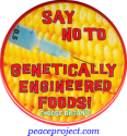 Say No To Genetically Engineered Foods! Choose Organic - Button