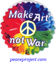 B1165 - Make Art Not War - Button
