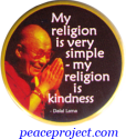 My religion is Very Simple - My Religion is Kindness - Button